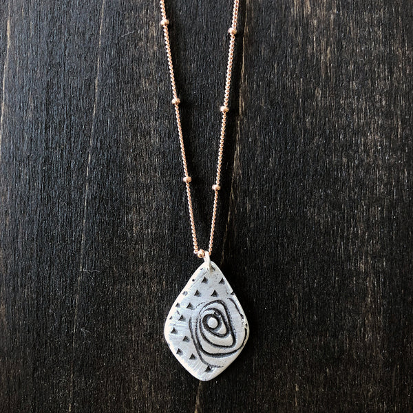 Roses in Sterling Necklace - Jester Swink
