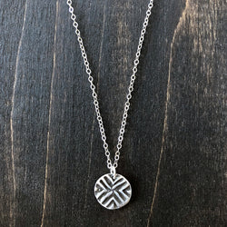 Jester Swink - Abstract Tribal Sterling Necklace