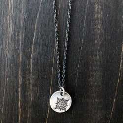 Jester Swink - Snowflake Charm Sterling Necklace