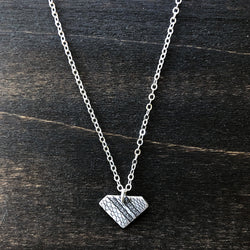 Silver Triangle Lace Pendant Necklace - Jester Swink