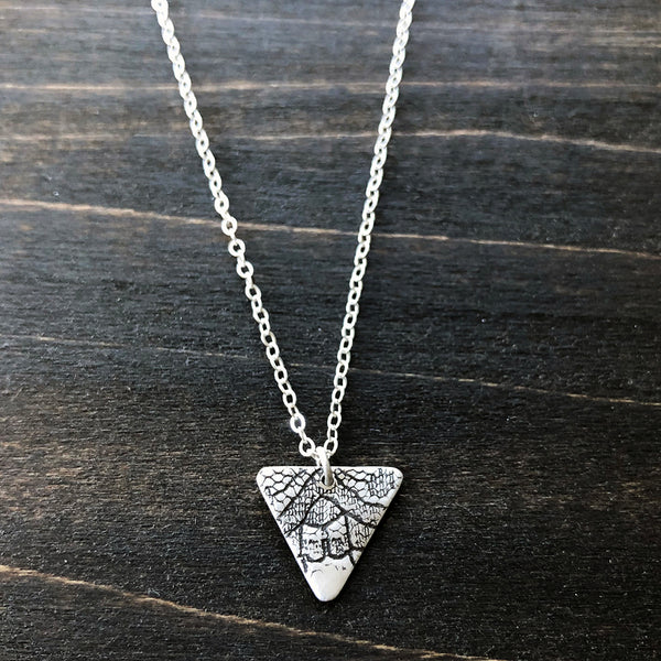 Silver Triangle Lace Necklace - Jester Swink