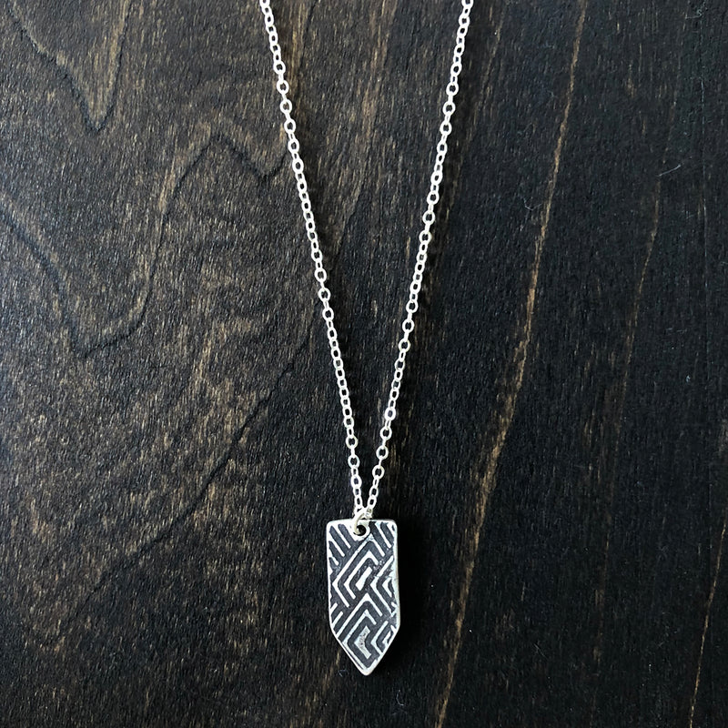 Double Sided Arrow Pendant with Texture - Jester Swink