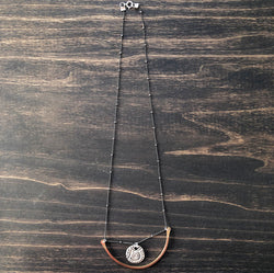 Crescent Moon Swing Necklace with Retro Charm - Jester Swink