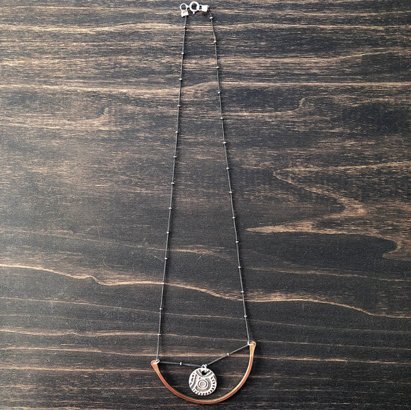 Jester Swink - Crescent Swing Necklace with Retro Charm