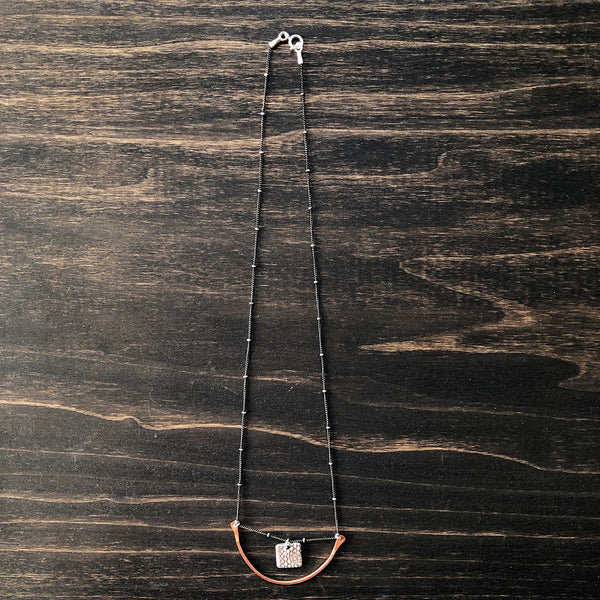Jester Swink - Delicate Crescent Swing Necklace