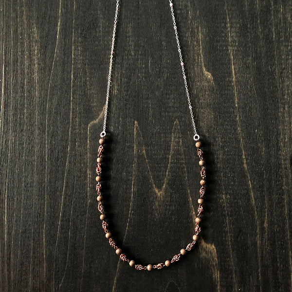 Layering Copper and Sterling Chain Necklace - Jester Swink