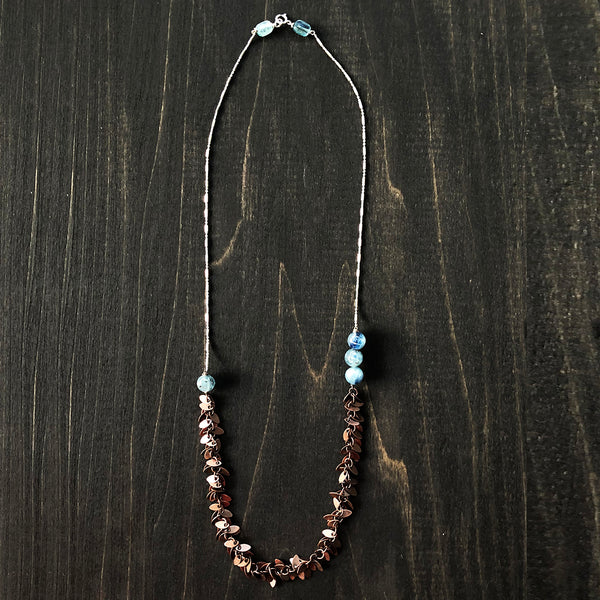 Sterling, Copper and Kyanite Necklace - Jester Swink