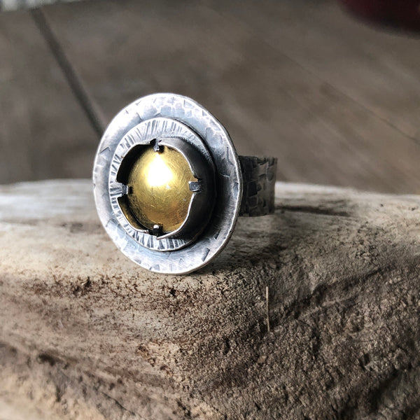 Layered Sterling Kumboo Ring - Jester Swink