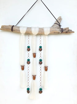 Turquoise Copper Clouds Wall Hanging - Jester Swink