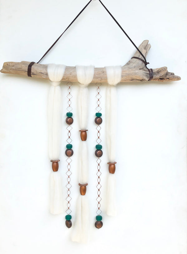 Turquoise Copper Clouds Wall Hanging