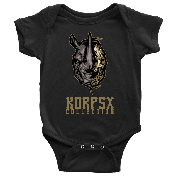 Rhino Skull Baby Bodysuit - The KORPSxCollection