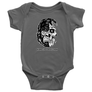 Grey Baby Bodysuit Gorilla Skull Head