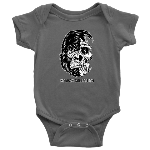 Baby Bodysuit Gorilla Skull Head - The KORPSxCollection