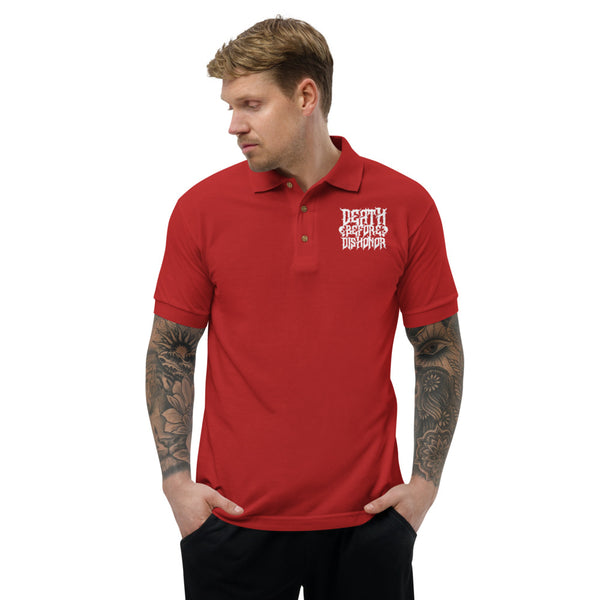 Death Before Dishonor Embroidered Polo Shirt - The KORPSxCollection
