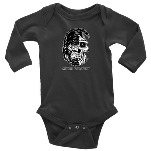 Gorilla Skull Long Sleeve Baby Bodysuit - The KORPSxCollection