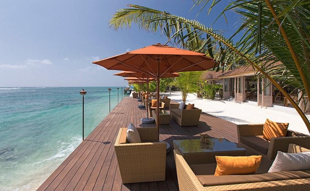 Luxury surfing at Anantara Veli, Maldives