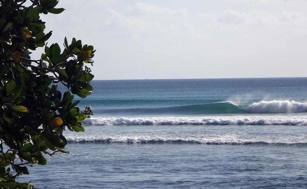 Luxury surfing at G-Land, Indonesia with a private helicopter