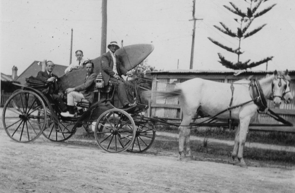Duke Kahanamoku is delivered surfboard in Australia