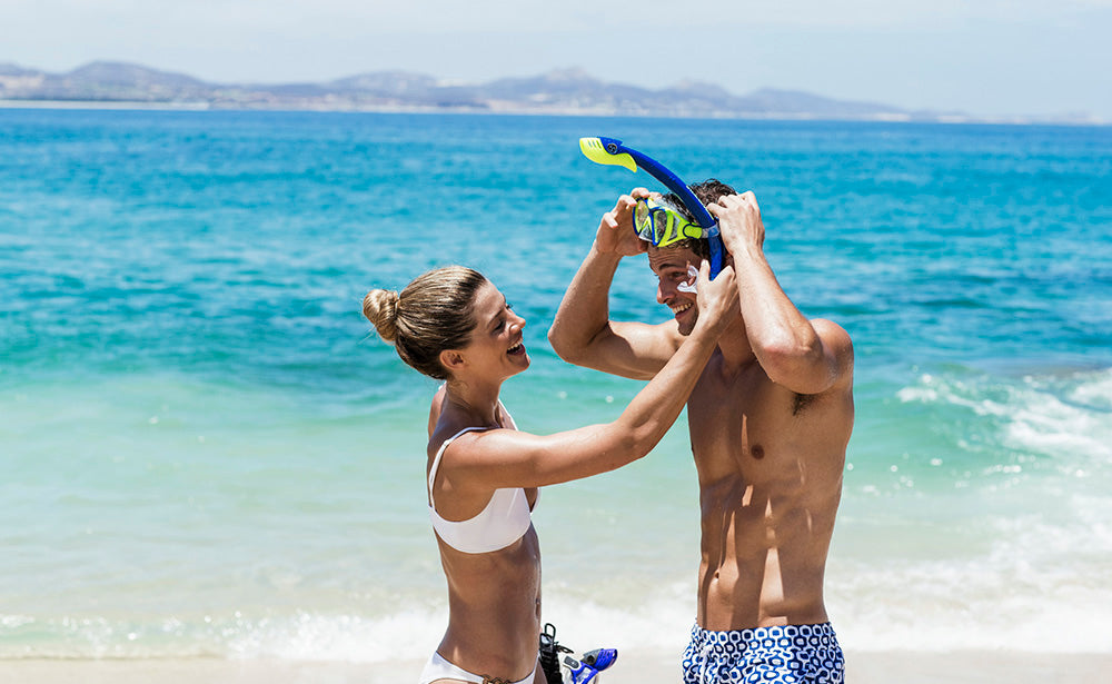 Beach couple vacation fun, One and Only Palmilla, Los Cabos, Mexico