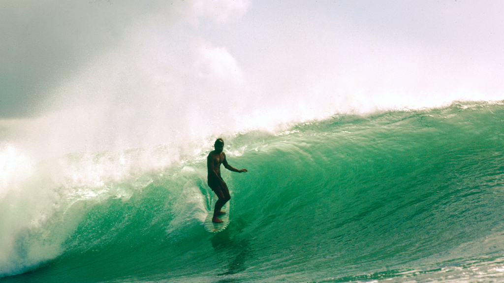 Gerry Lopez, Padang Padang, 1977. PHOTO: Dick Hoole.