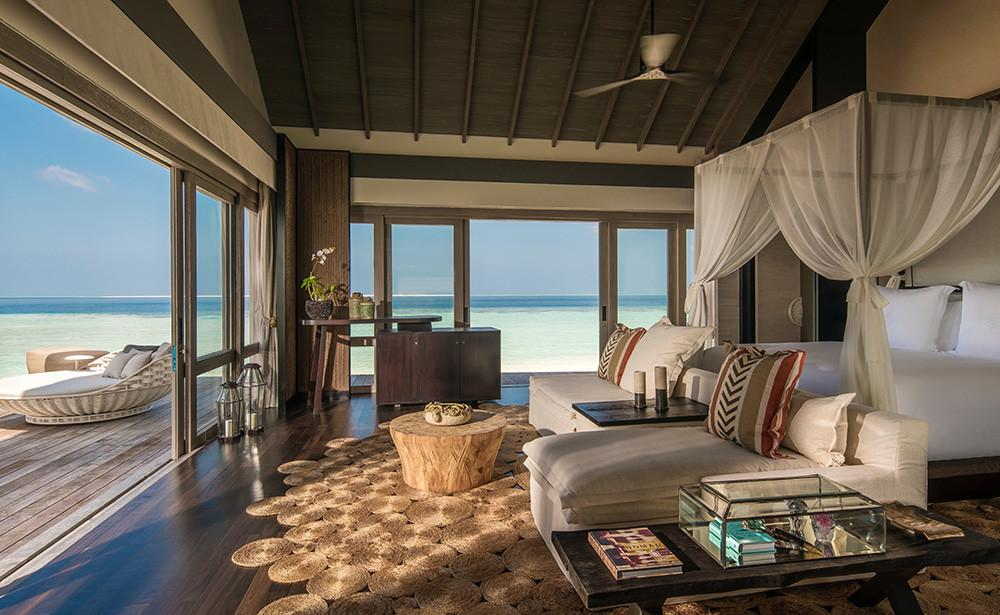 Living Room, Voavah Four Seasons Private Island Maldives