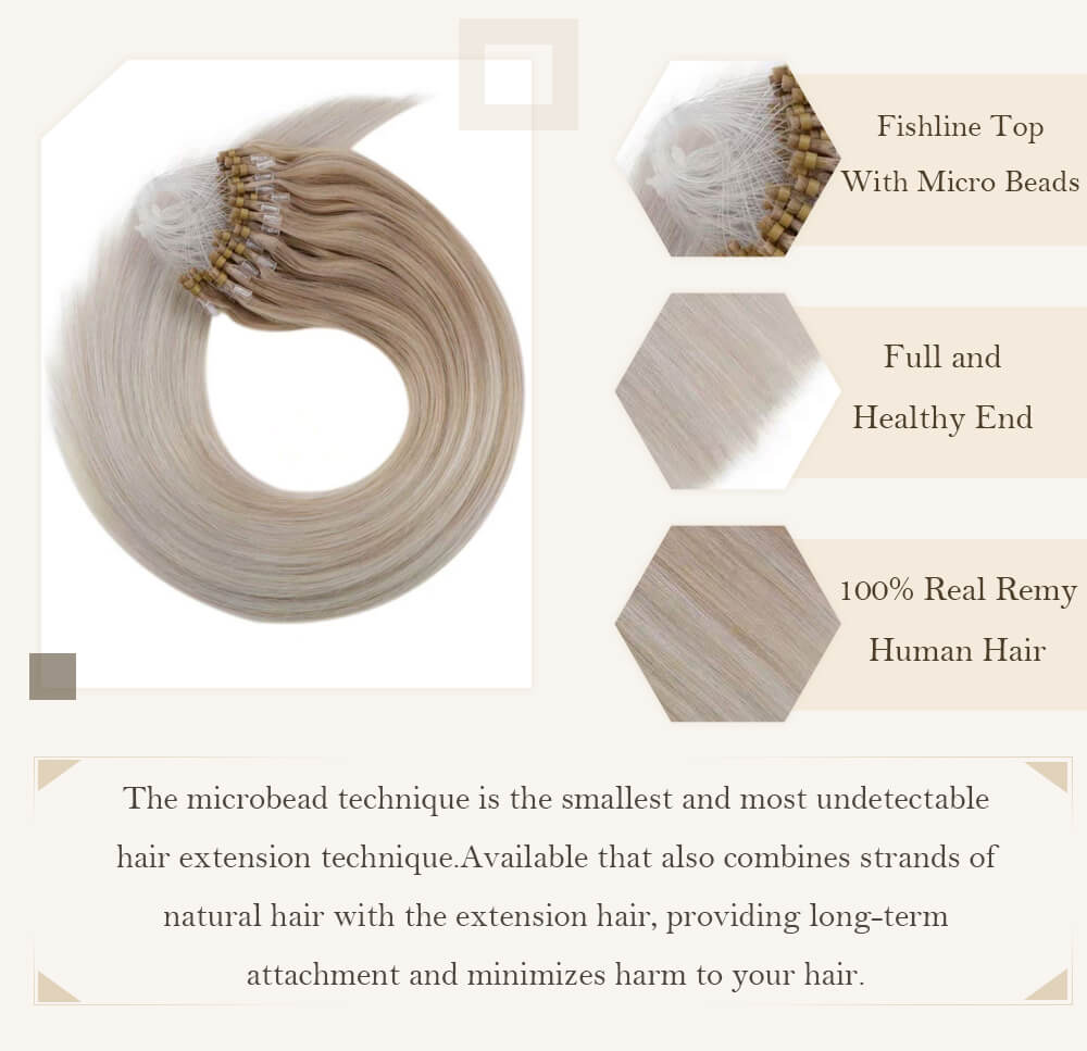 ombre ash blonde fading to light blonde hair extensions cold fusion hair