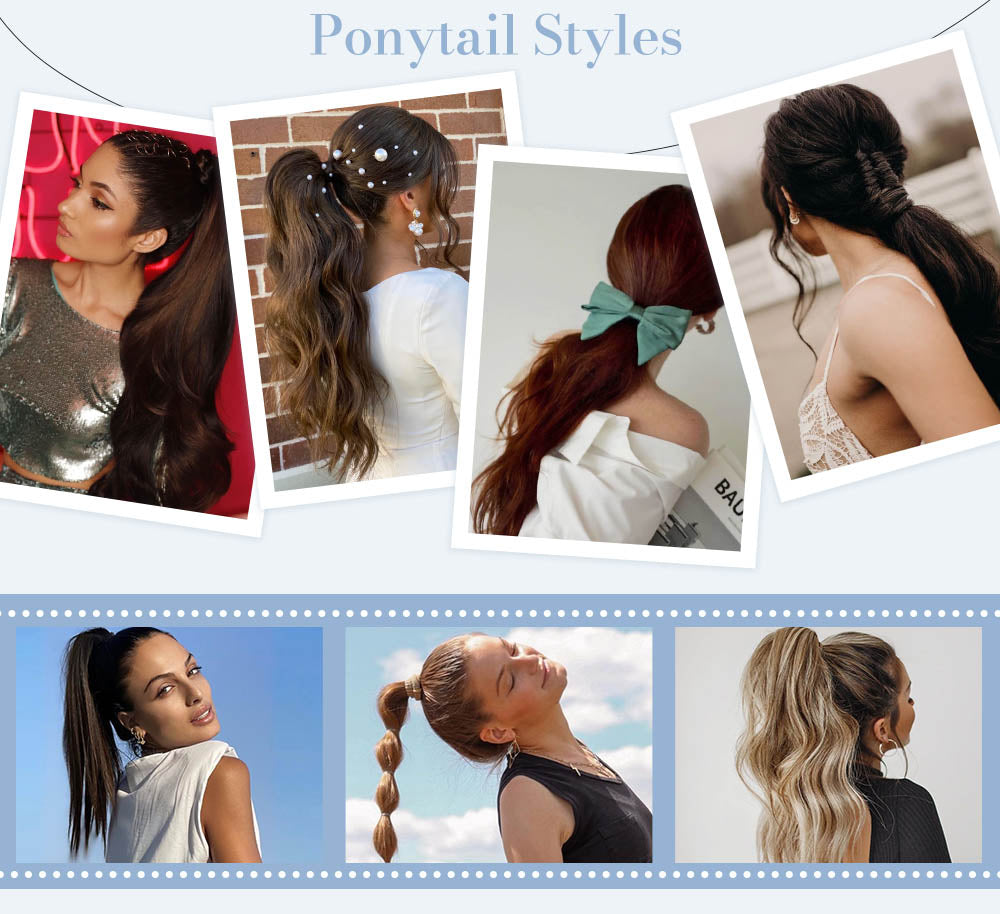 Fashion Ponytail Style High ponytail low ponytail fashion color hair free style