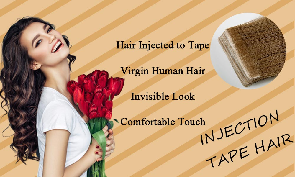 Injection-Tape-in-hair-extensions-virgin-human-hair-invisible-hair-Skin-Weft-healthy-hair