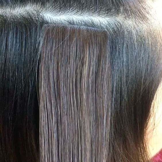 apply Injection tape in hair