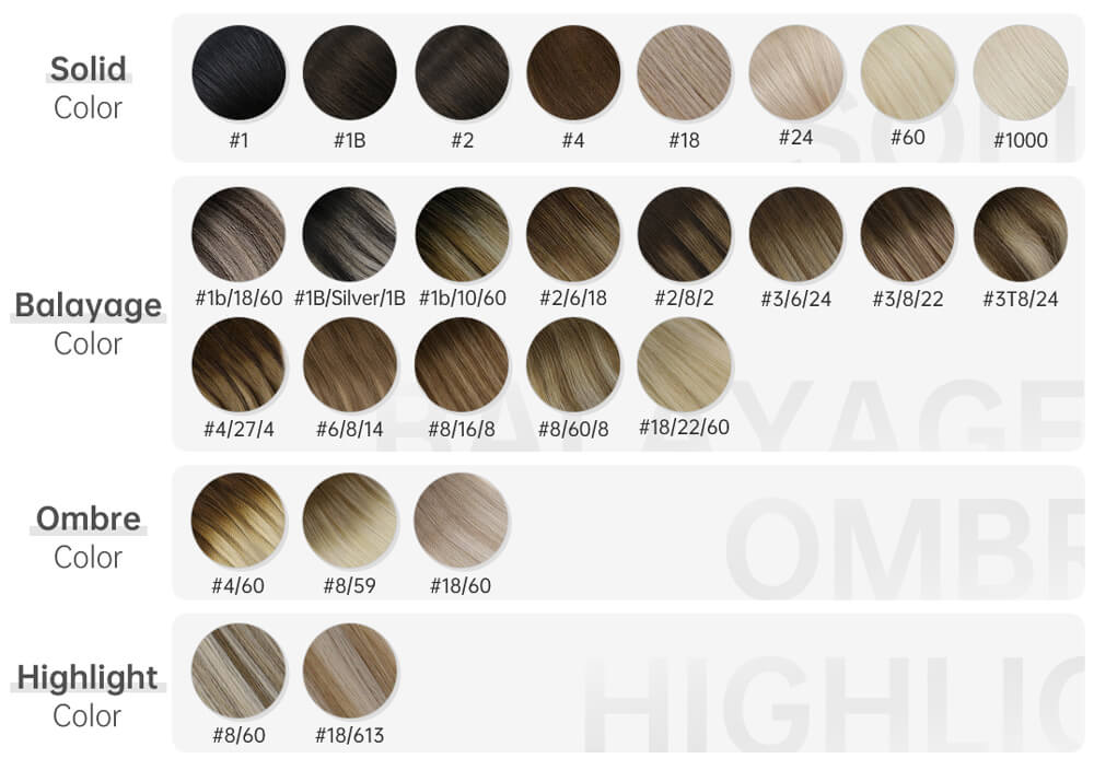 solid highlight balayage ombre color human hair tape in hair extensions remy human hair