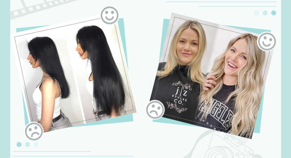 Before and after the extensions