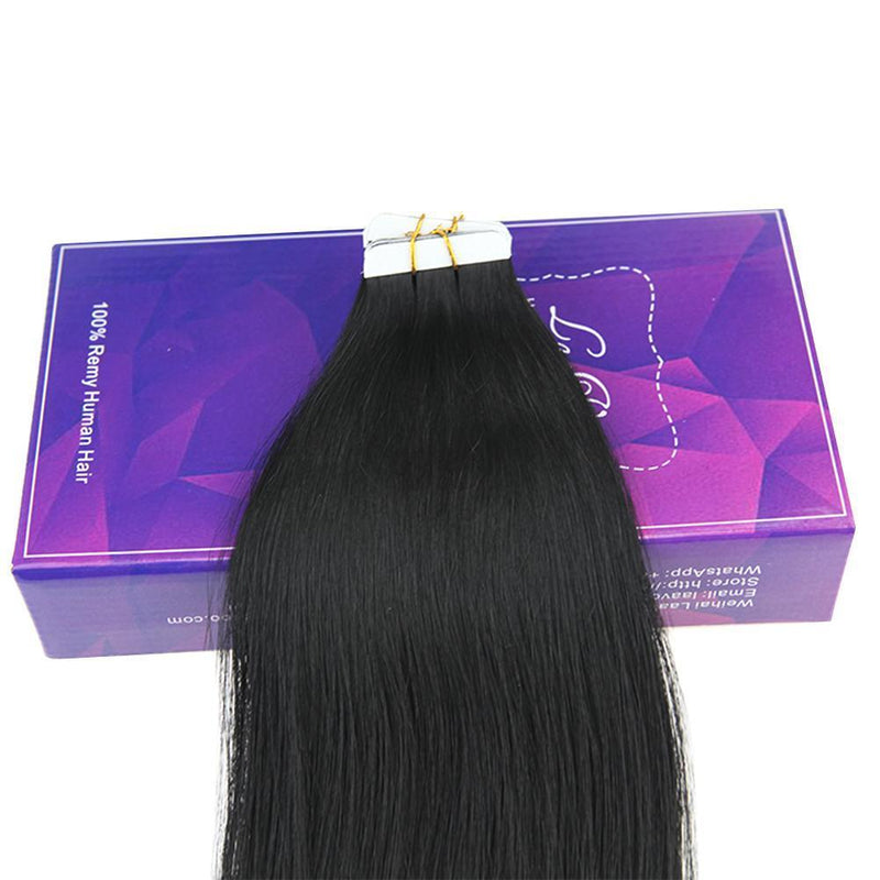 Invisible tape ins hair 100% Brazilian healthy human hair no tangle no knotted lasting long on head