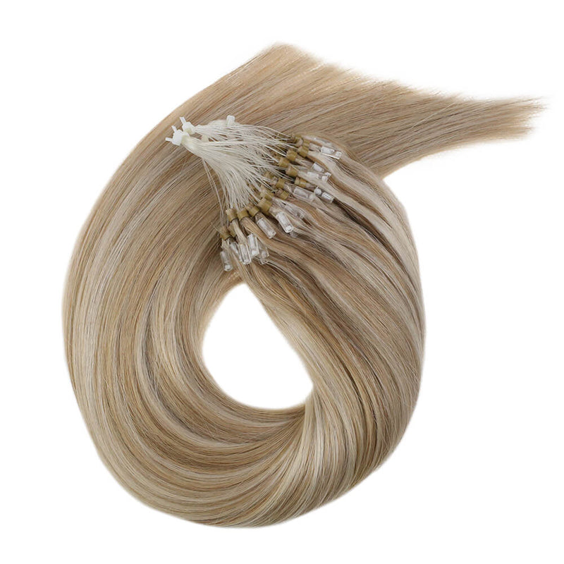 (#6/27) Tape In Extensions 100% Real Human Hair Piano Color #6 Medium Brown Mixed Color #27 Honey Blonde - LaaVoo