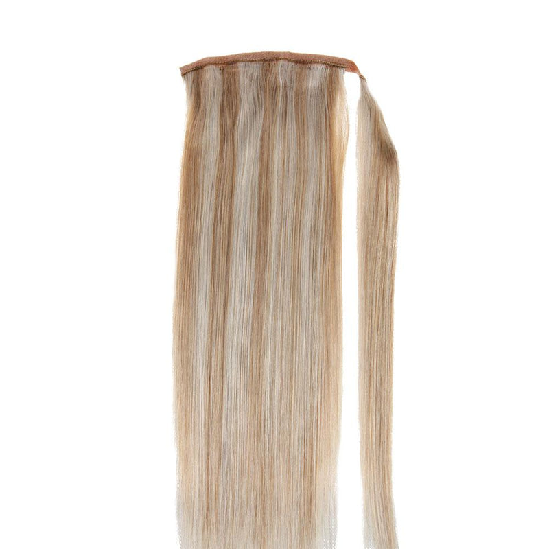 100% real human hair extensions fantasy color ponytail hair extensions