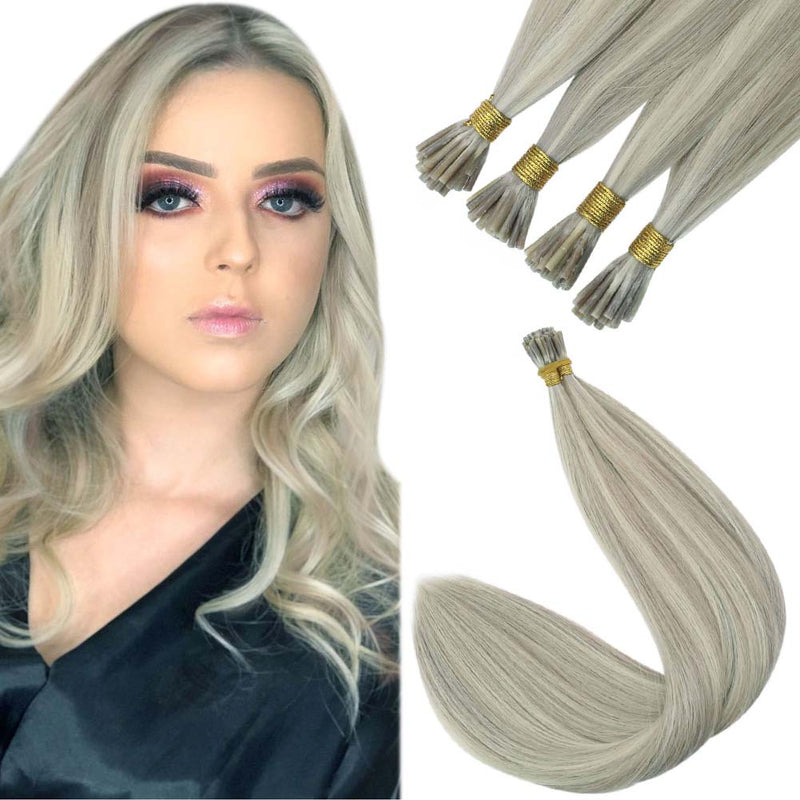 [ Virgin Hair] I Tip Pre Bonded Keratin Remy Human Hair Extensions Straight Style Color