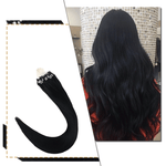 Micro Loops Beads Remy Hair Extensions Human Hair Color Jet Black #1| LaaVoo - LaaVoo