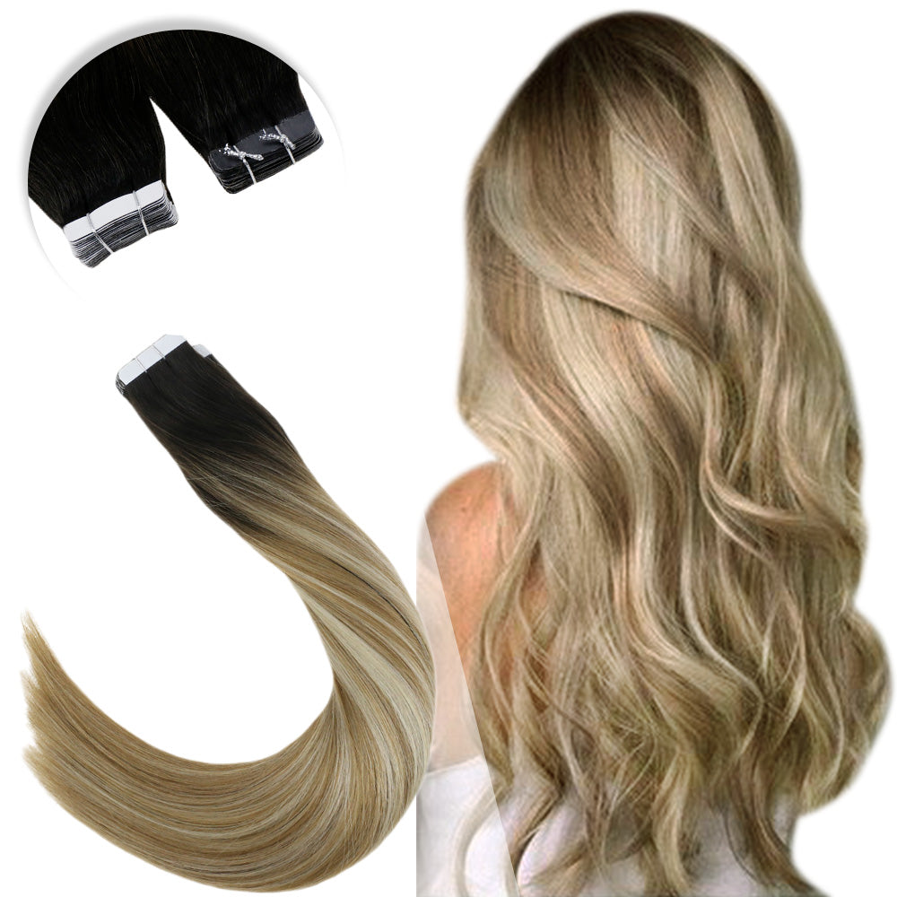 [Second Free-only USA customer ][Code: USSF] Nano Ring Pre Bonded Fusion Remy Human Hair Extensions #1b/10/60 - LaaVoo