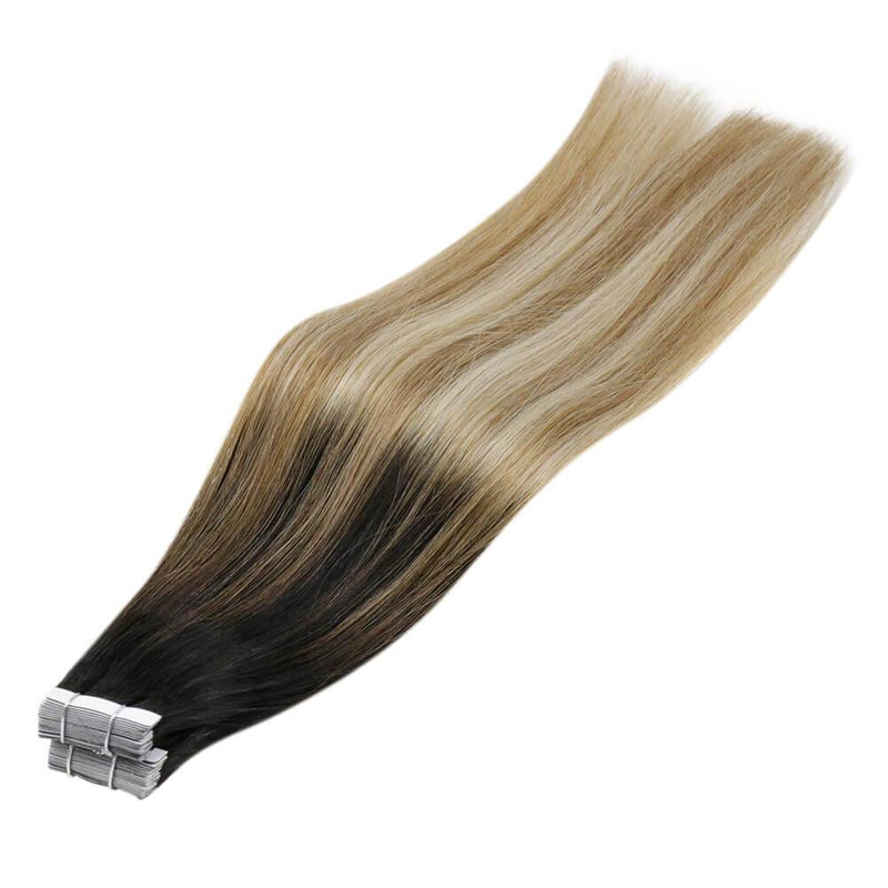 permanent human hair seamless tape in hair seamless hair silk smooth hair extensions skin weft tape in hair