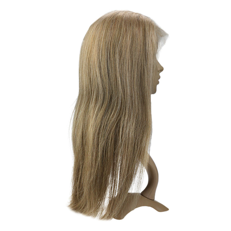 Long Straight Human Hair Wigs Ombre Lace Front Virgin Brazilian wigs 130% Density (#P8/16) - LaaVoo