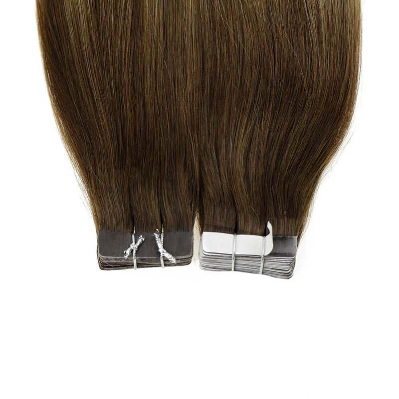 tape in hair extensions brown blonde ombre blonde tape in hair extensions tape in extensions balayage 18 inch tape in blonde hair extensions dark brown ombre blonde tape in