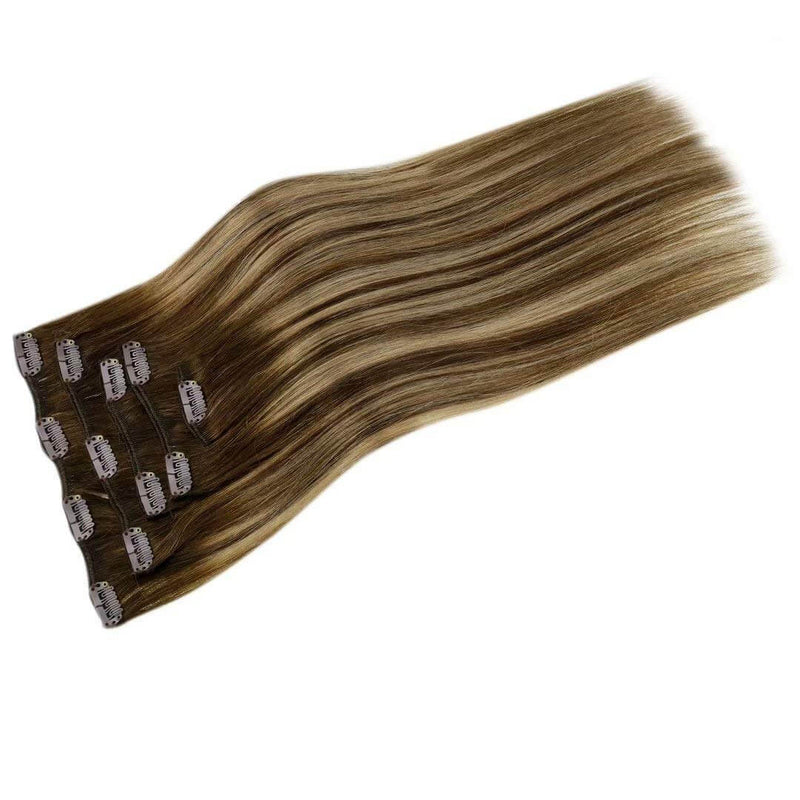 LaaVoo Clip in hair Official hair extensions remy human hair
