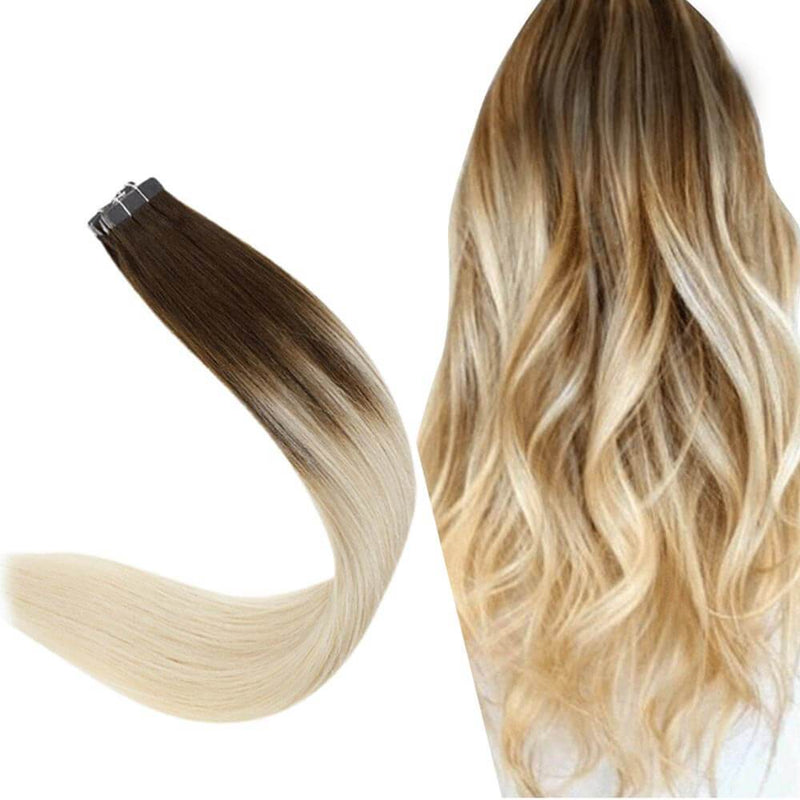 [ Clearance] Tape in Hair Extensions Skin Weft Adhesive Ombre Color