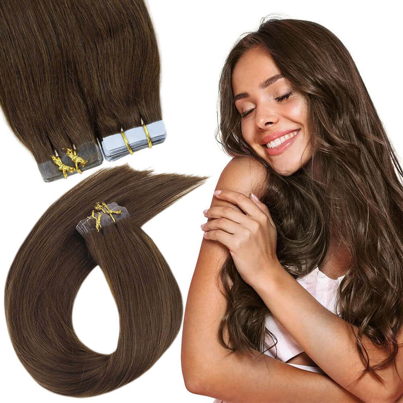 Tape in Extensions Brown Mixed Blonde 100% Real Human Hair