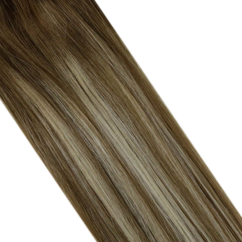 Micro Loop Hair Remy Human Hair Micro Beads Hair Highlight Balayage Brown Mixed Blond #8/60/8| LaaVoo - LaaVoo