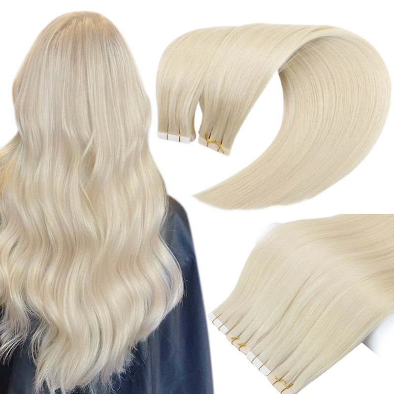"Micro Beads EZ Weft 12""Width 50g Double Ash Blonde and Bleach Blonde (#P18/613)"