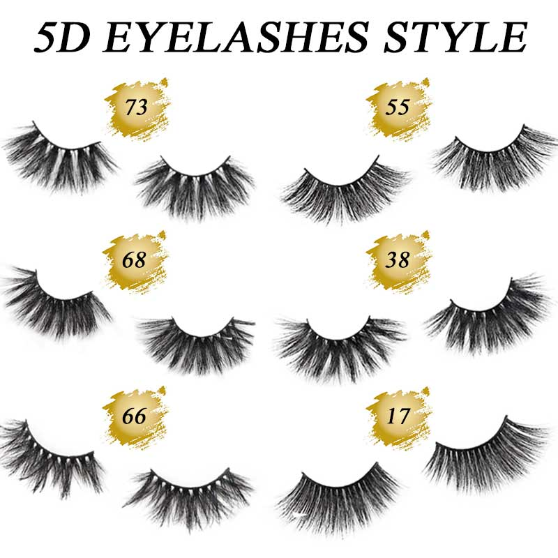 5D Mink Lashes Eyelashes Thick HandMade Full Strip Lashes Natural Look Cruelty Free Luxury Makeup - LaaVoo