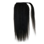 Ponytail Wrap Around Kinky Straight Black for Black Women Clip in #1B| LaaVoo - LaaVoo