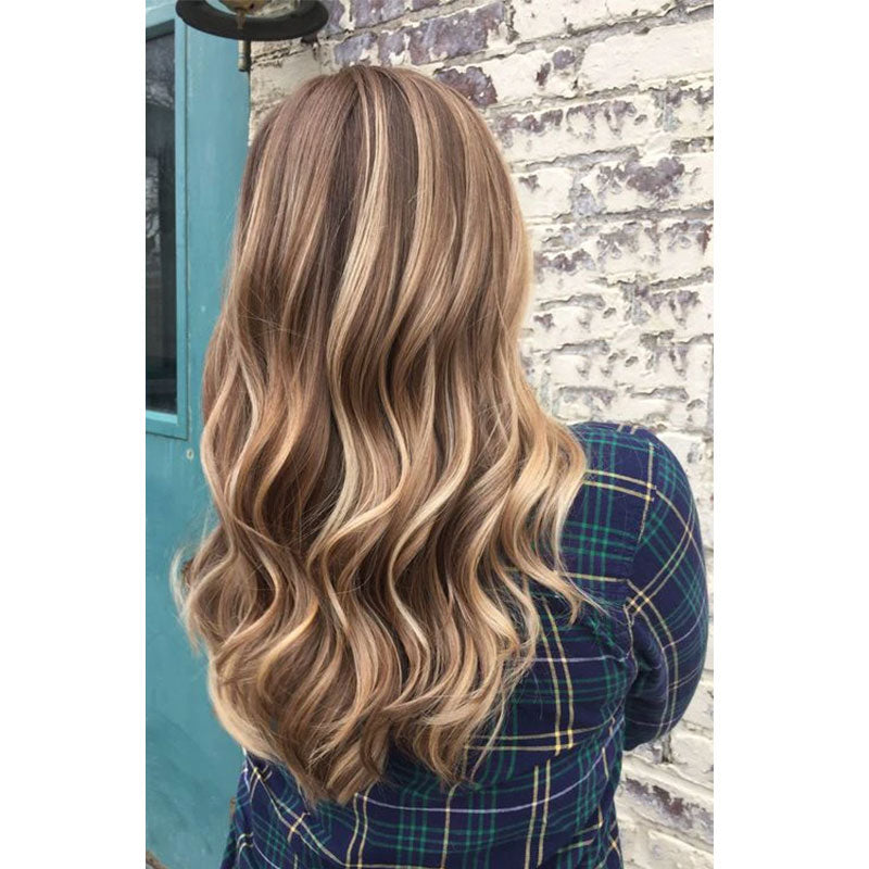 Wire Halo Hair Extensions No Glue No Clips Silky Soft Darkest Brown