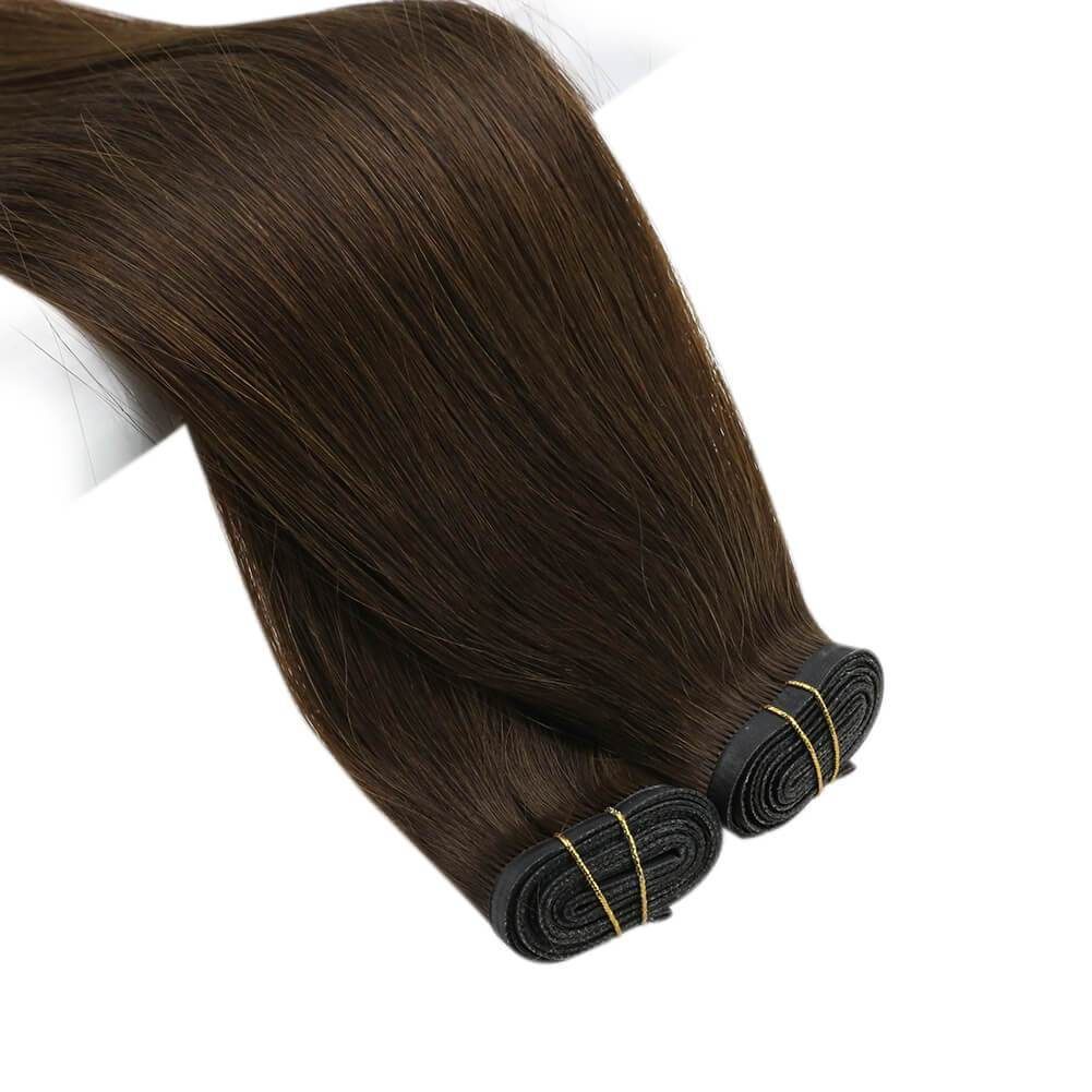 PU bundle PU weft silk flat top thin thickness flat tip thin thickness top thin connection at the base