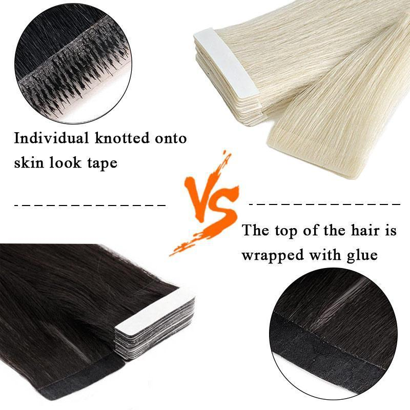 sandwich tape in hair easily apply easily install easily remove quality hair salon quality hair permanent tape ins hair